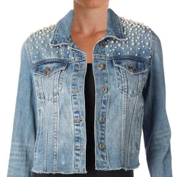 6d7f48da11015 Bloomingdale's Jackets & Blazers - BLOOMINGDALE'S SUNSET + SPRING Pearl  Denim Jacket